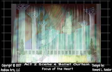 Focus of the Heart Ballet Curtain