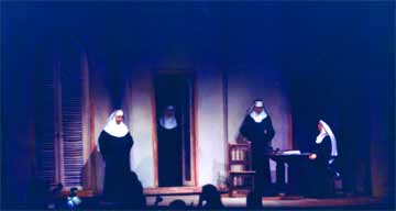 Sound of Music Mother superior's Office Set during dress rehearsal